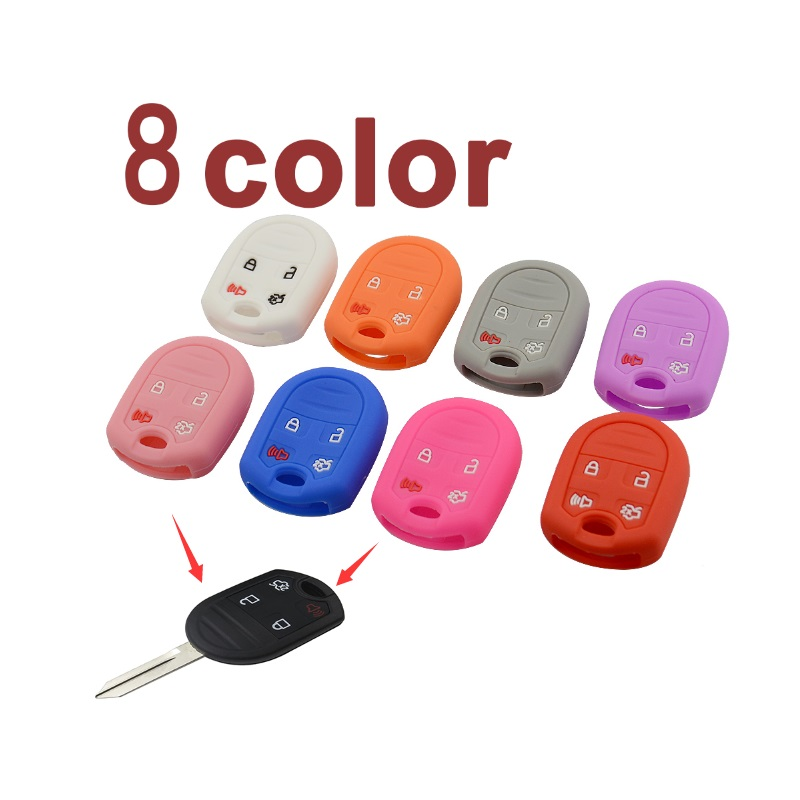 4 buttons silicone car key case for Ford 1