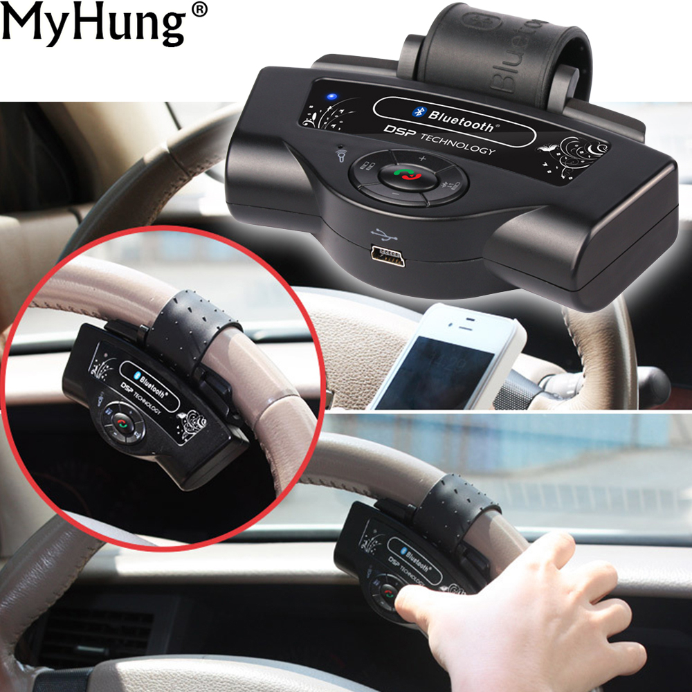 все цены на Portable Steering Wheel Handsfree Auto Bluetooth Receiver Car Kits Hands Free For Mobile Phone Speakerphone Bluetooth онлайн