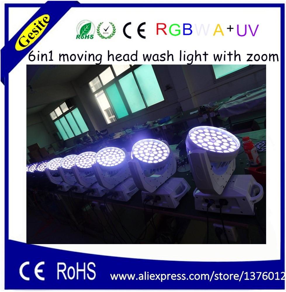 AC 100-240V Quad-color 36 * 18W RGBWA UV 6-u-1 LED pokretno glavno - Komercijalna rasvjeta - Foto 5