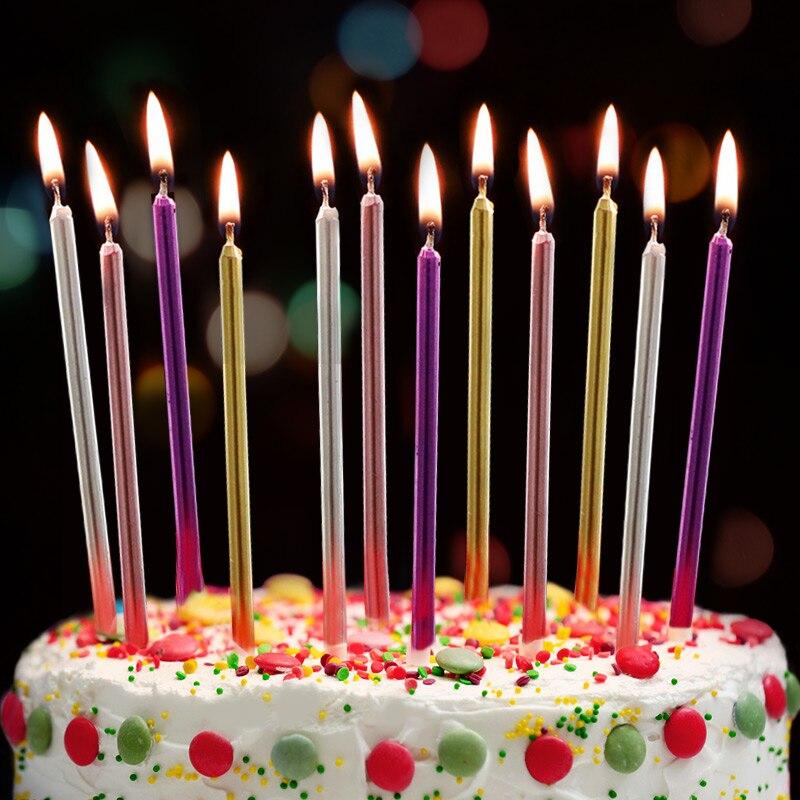 100 boîte 5 couleur lumineux créatif romantique fête d'anniversaire bougie gâteau fête d'anniversaire Festival fournitures décorations cadeaux