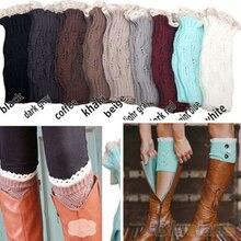 Лидер продаж; женские вязаные крючком гетры с кружевной отделкой и манжетами; носки для обуви; 1SCI 23DH 7FNY