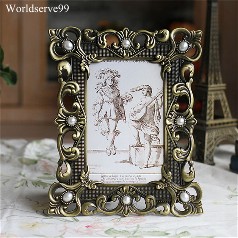 Best Home Decor Gifts 2012: 6inch Vintage Pearl Wedding Photo Frames Metal Picture