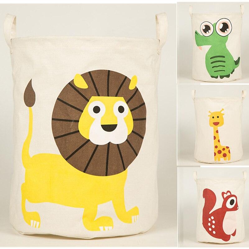 Cute Animal Collapsible Toy Storage Organizer Folding: New Large Animal Laundry Basket Storage Kids Toy Storage