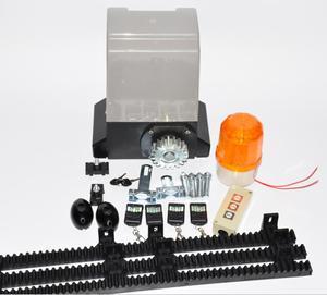 Image 2 - Ouvre porte coulissant automatique 370W, kit dexploitation pour porte 800kgs avec support à engrenage en nylon de 5m ou 4m, pour maison, villa
