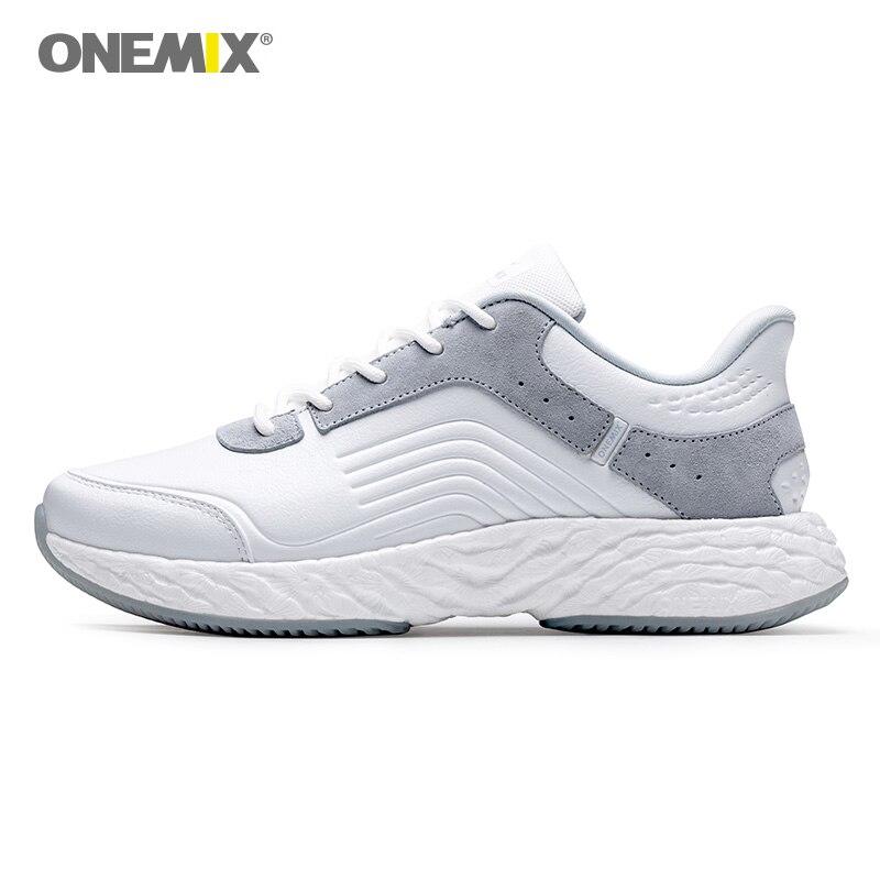 ONEMIX running shoes for men high tech leather sneakers energy drop waterproof windproof upper running super