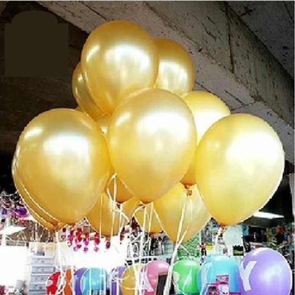 Buy latex helium balloon 12 gold color for Balloon decoration business