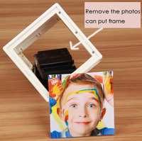 Electric Automatic Rotation Photo Frame Art Decor Creative Six sides Photo Frame Personality Cube 360 degree Dimensional Frame