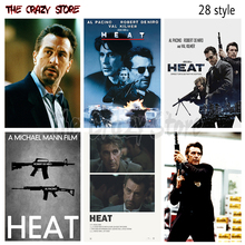 Heat Al Pacino Classic Movie Vintage Retro Poster Wall Stickers Home Decoration High Quality Prints Wall