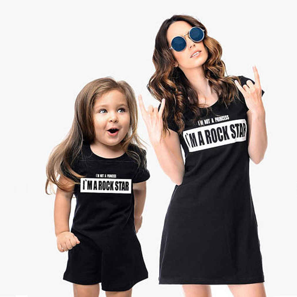 ... Girls Princess Beach Dress family Outfits Boho Summer Floral Black  elegant Dresses. RELATED PRODUCTS. Family Dress Mother and Daughter  Matching Family ... 5224d156dd11