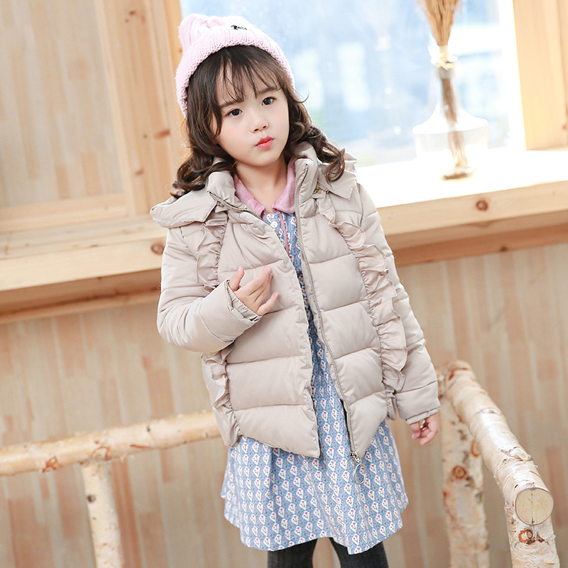 Children's Winter Cotton Down Coat Clothes 2017 Kids Girl Warm Parkas Down Long Hooded Jacket Toddler Girls Outwear Outfit 2017 new fashion girls winter warm coat kids jacket hooded snow wear cotton down outerwear girl solid color winter clothes