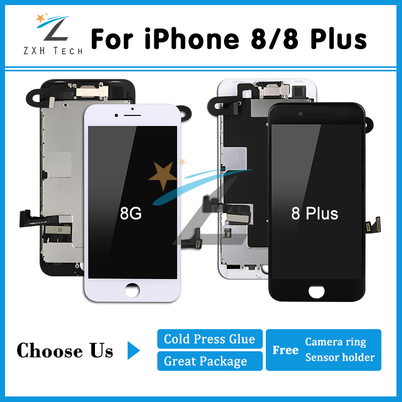 5PCS LOT DHL Shipping Mobile Phone LCD Display for iPhone 8 8 plus LCD Pantalla 3D