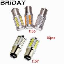 10pcs 1156 7506 BA15S P21W BAY15D 1157 5630 5730 LED Car Tail Bulb Brake Lights auto Reverse Lamp Daytime Running Light white цена и фото