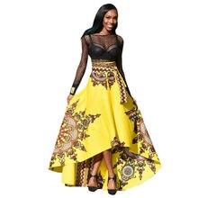 c584d7fac4 2019 Printemps Eté New African Femmes Imprimé D'été Boho Longue Robe Beach  Party Soirée Maxi Femmes de Vacances D'été Robe #3