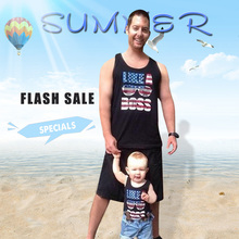 American Flag Father Son Matching T-Shirts