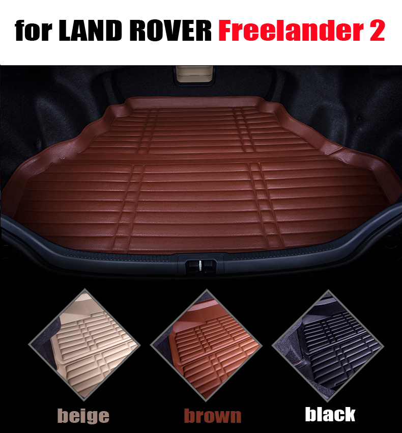 car trunk liner pad for LAND ROVER Freelander 2 2006-2016 cargo liner leather all weather car mats cargo mats auto accessories car rear trunk security shield cargo cover for volkswagen vw tiguan 2016 2017 2018 high qualit black beige auto accessories