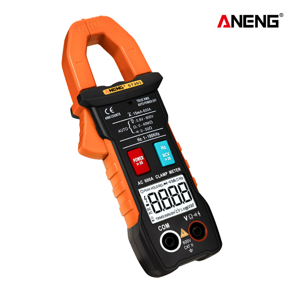 <font><b>ST203</b></font> Digital Clamp Meter Multimeter 4000counts True RMS Mini Amp DC/AC Clamp Meters Voltmeter 400v Automatic Range image