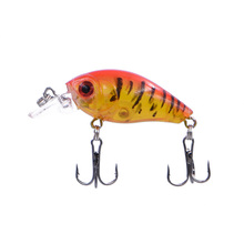 Excellent 4.5cm 4g Hard Fishing Lures Assorted Colors Quality Mini Crank Bait Bass Artificial Bait Wobblers Carp Fishing Baits rompin 100pcs stainless steel split rings for blank lures crank bait hard bait carp fishing tools double loop 6mm 7mm 8mm