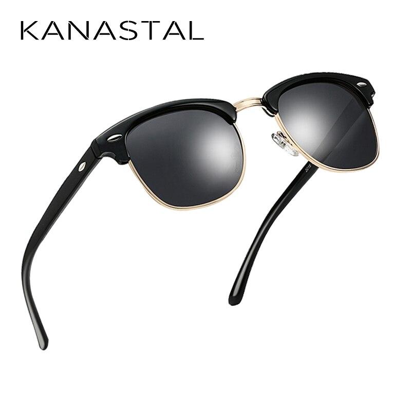 Semi Rimless Polarized Sunglasses Men Women Retro Brand Designer Sun glasses Classic Driving Shade UV400 in Men 39 s Sunglasses from Apparel Accessories