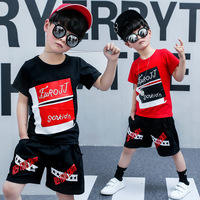 2019 New Kids Clothes Boys 2 3 4 5 6 7 8 9 10 11 12 Years Summer Children Clothing Boys Short Set Casual Toddler Boy Outfit Sets