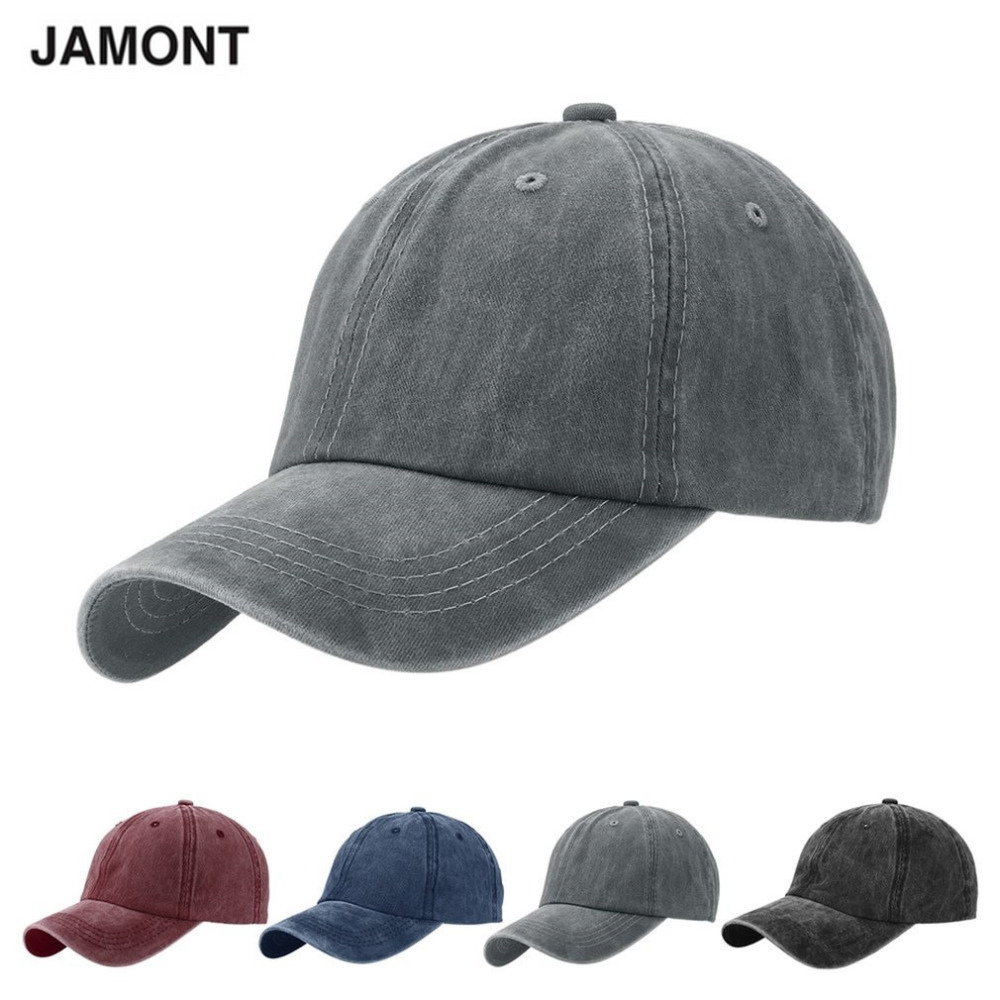 JAMONT Brand Denim Unisex Baseball Caps Harajuku Adjustable Hats 2018 Hip Hop Grey Casquette Bone Grey Trucker Cap Gorras