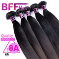 BFF 8A Mink Hair Products Brasileño de la Virgen Cabello Liso Extensión Del Pelo Brasileño Recto Paquetes Armadura Del Pelo Humano Al Por Mayor