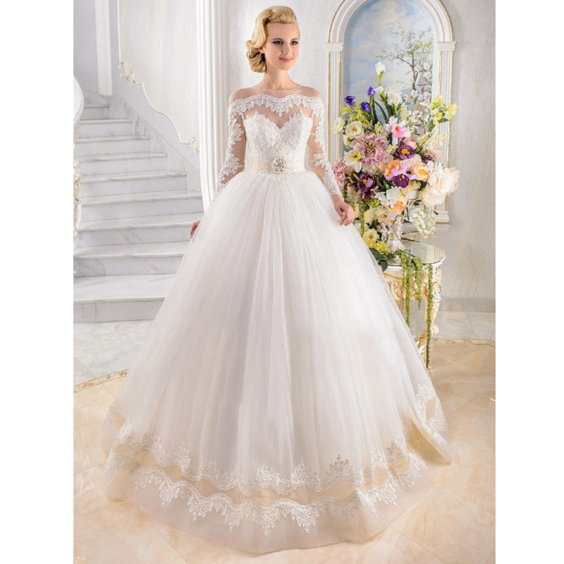 Buy white ivory lace wedding dress 2016 for White or ivory wedding dress