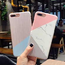 Marble Wood Pattern Phone Case  iPhone 5 5S SE 6 6S 7 8 Plus X