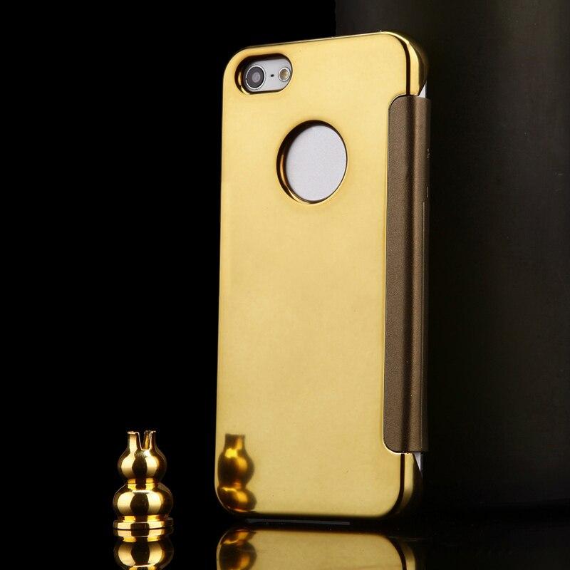 2015 lyxigt klart spegelfodral för iPhone 5 5S 5G Flip Smart Phone - Reservdelar och tillbehör för mobiltelefoner - Foto 3