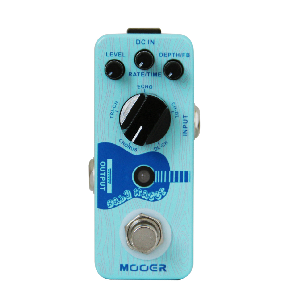 Mooer Baby Water High Quality Guitar Digital Effects Pedal with Chours TRI CHI ECHO CH DL