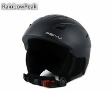 Happy skiing holidays new ski helmet men and women outdoor Snowboarding cap snow helmet Safety hat protective ski equipment