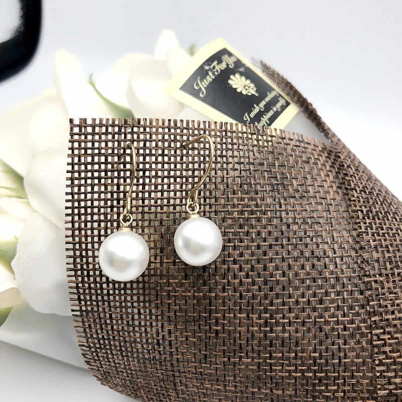 2019 ต่างหูมุกแท้ไข่มุกธรรมชาติทองต่างหู Pearl เครื่องประดับสำหรับผู้หญิงงานแต่งงานของขวัญ