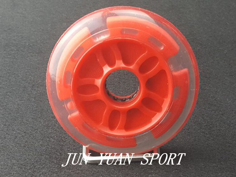 Image 4 - High quality!8Pieces/lot 90mm LED Flash Inline Speed Racing Speed Skating Wheel for Street Brushing Cool Light,Free shipping-in Flashing Roller from Sports & Entertainment