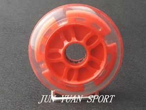 Image 4 - High quality!8Pieces/lot 90mm LED Flash Inline Speed Racing Speed Skating Wheel for Street Brushing Cool Light,Free shipping