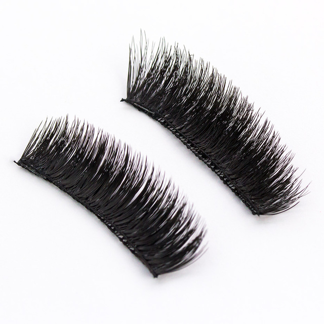 HaHaLash 2pcs magnetic eyelashes 3D 6D type with two or three magnets on Natural curl Hand Made faux mink eyelashes synthetic 3