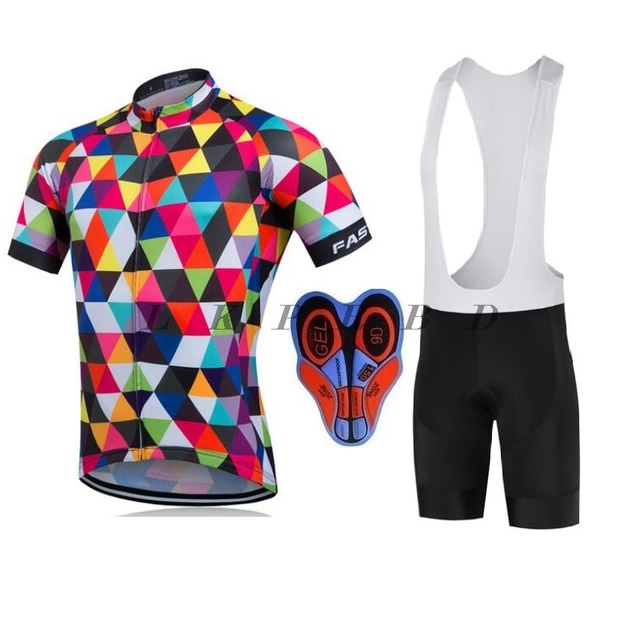 7623f398b 2018 NEW FASTCUTE Cycling Jersey Multicolor Bicycle Bike Short Sleeve  Sportswear Cycling Clothing maillot Cycling Jerseys sets