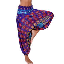 Colorful Printed Dance Yoga TaiChi Full Length Pants