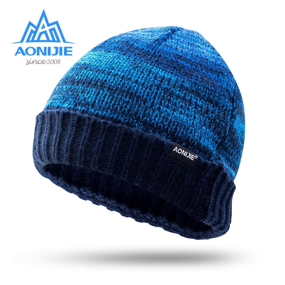 AONIJIE M25 Unisex Winter Warme Sport Stricken Beanie Hut Schädel Kappe Für Lauf Jogging Marathon Reisen Radfahren Camping