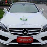 Hochzeit auto dekoration künstliche blumen staubblatt verlässt silk blume gefälschte diy pompoms hochzeit dekoration lieferungen