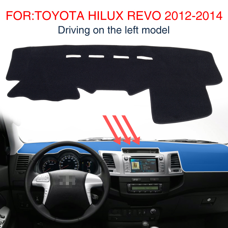 smabee FOR:TOYOTA Hilux Revo 2012-2014 Dash Mat Dashmat Black Carpet Car Dashboard Sunscreen insulation 2015 2017 car wind deflector awnings shelters for hilux vigo revo black window deflector guard rain shield fit for hilux revo