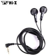 TY Hi-Z 32ohm HiFi Earphone 32 Ohms Earphones In Ear Stereo Earbuds Wired Flat Head Earplugs Bass Headsets For Samsung Xiaomi