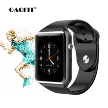 QAQFIT A1 Smart Watch With Passometer Camera SIM Card Call Smartwatch For Xiaomi Huawei HTC Android Phone Better Than Y1 DZ09