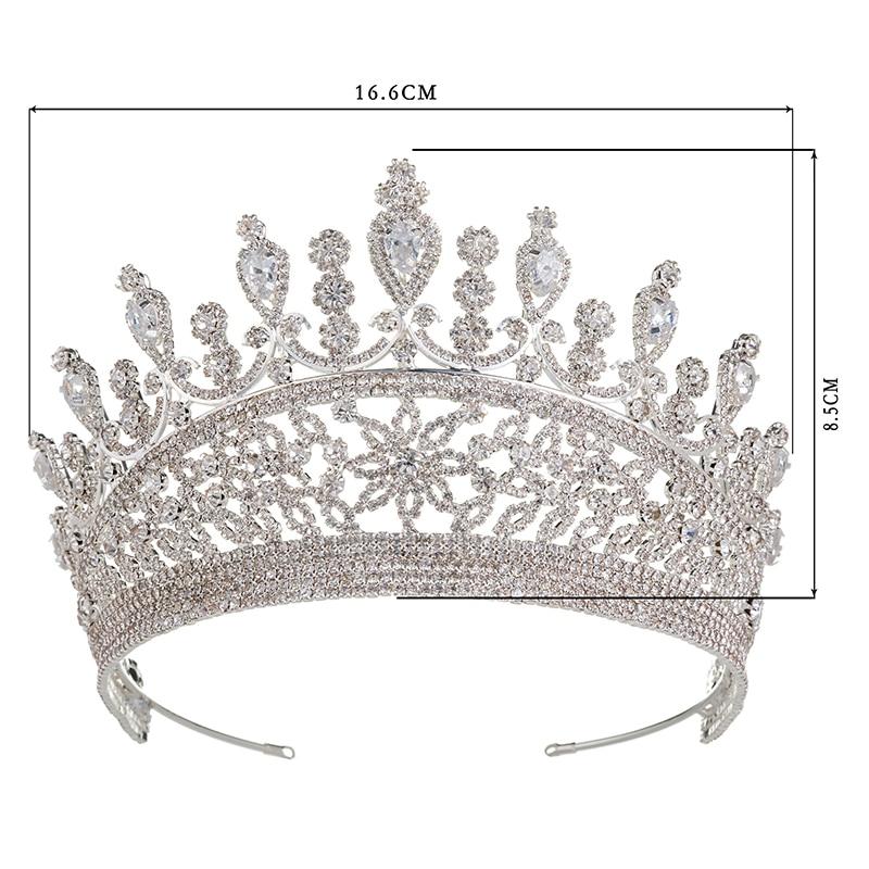 Hadiyana 2018 милые девушки капли Hairband CZ корона принцессы ободок тиара на день рождения короны для женщин аксессуары для волос HG6007 - 2