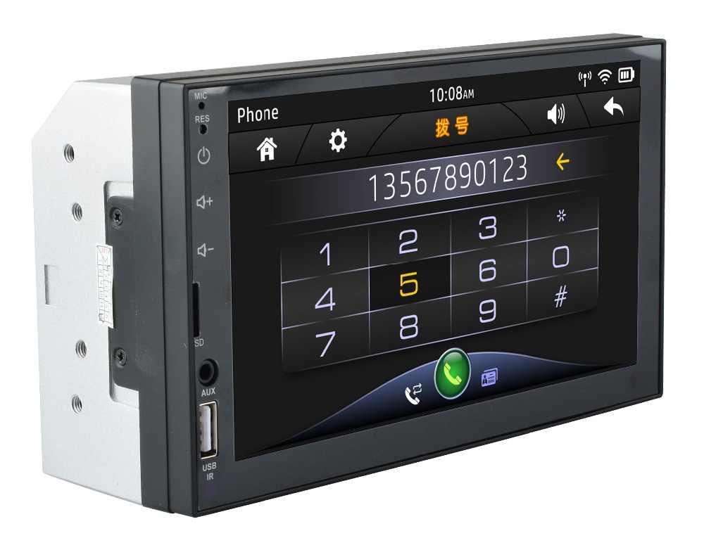 Enlace espejo de radio para coche de 2 DIN (para teléfonos Android) pantalla capacitiva MP5 Bluetooth USB TF FM Cámara Multimedia 2din reproductor de radio