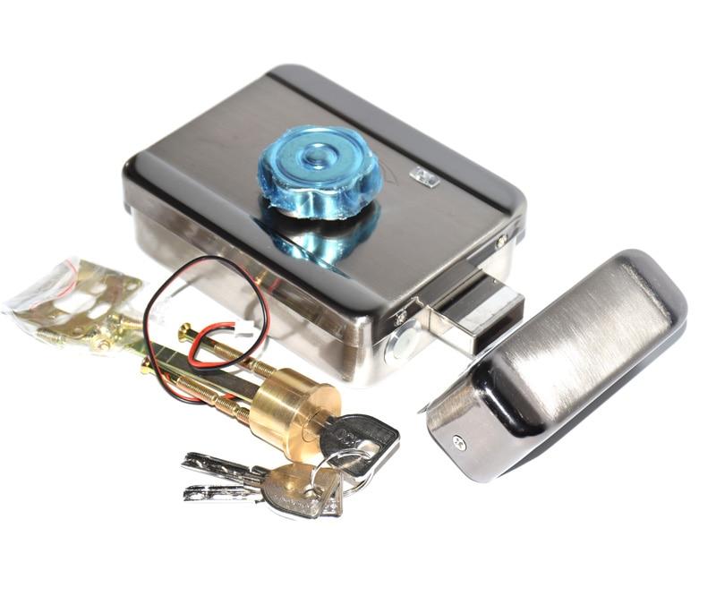 12VDC Electric Door Motor Rim Gate Lock,Smart Security Lock For Doorbell Intercom Access Control Security System