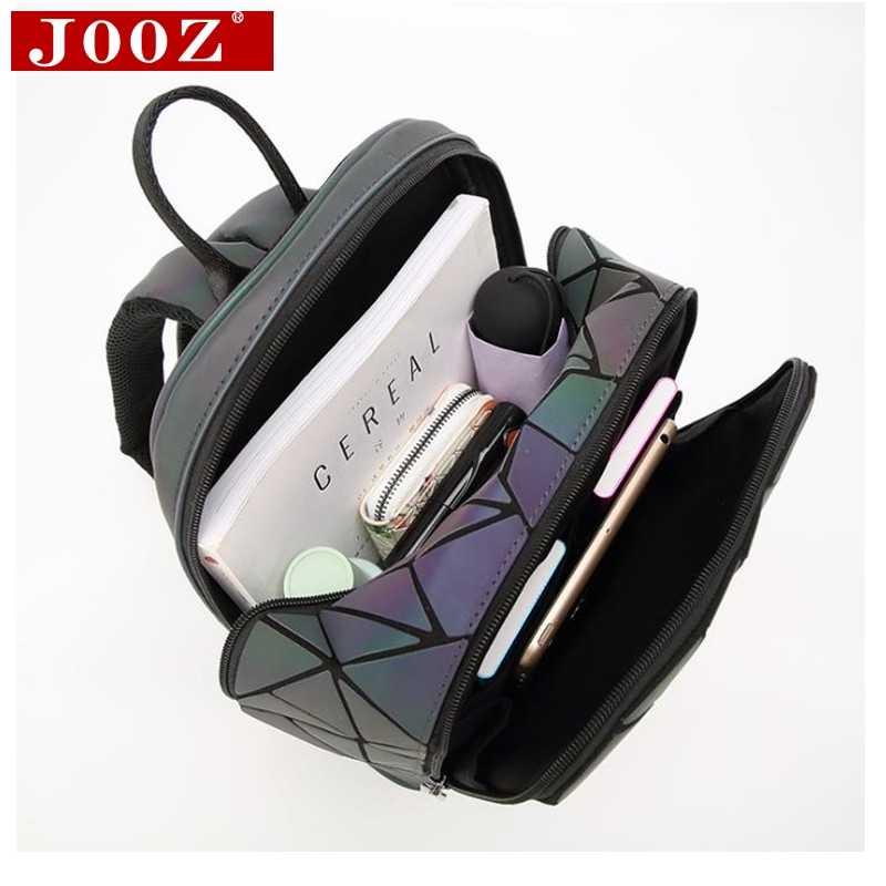 JOOZ модные женские туфли рюкзак ПВХ геометрический рюкзак с отражающими вставками 2019 Новые дорожные сумки для школьный рюкзак голографические рюкзаки
