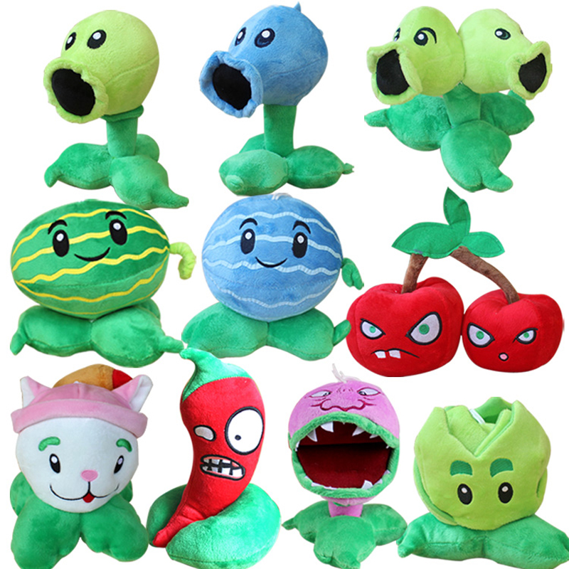 10pcs/lot Plants vs Zombies Peashooter Chomper Cabbage Cattail Plush Stuffed Toys PVZ Plants Plush Soft Toy Doll for Kids Gifts-in Stuffed & Plush Plants from Toys & Hobbies    1
