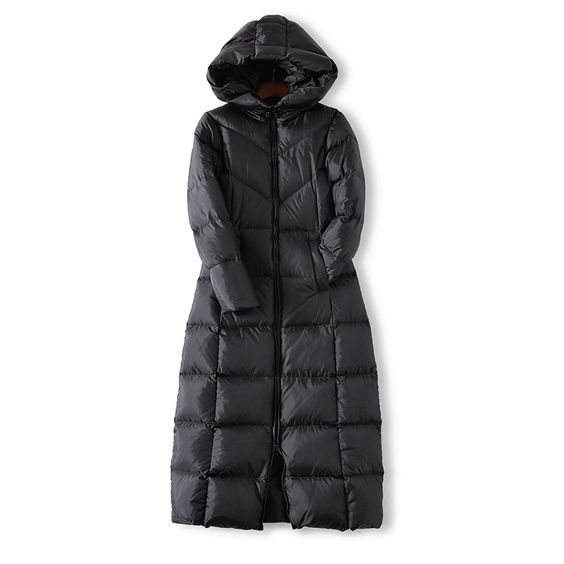 270399e7f US $73.9 |Krean style women extra long thicken outwear slim stand collar /  hooded 90% duck down jacket coat for winter-in Parkas from Women's Clothing  ...