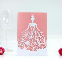 100pcs Laser Cut Hollow Bride Invitations Card For Wedding Party Invitation Cards with Envelope & Seal