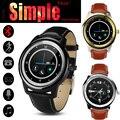 Navio DHL DM365 Couro Banda Relógio Inteligente Bluetooth Smartwatch Relógios de Pulso À Prova D' Água Full HD IPS Tela para IOS Android Phone