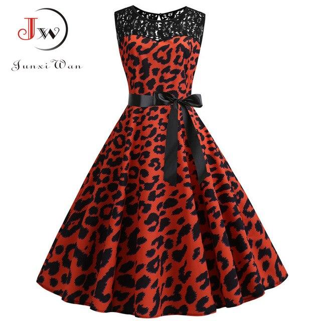 Plaid Print Summer Dress Women 50s Elegant Vintage Dress Casual Rockabilly Lace Patchwork Party Dress Plus Size High Waist 6